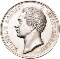 Medaillen Deutschland: Württemberg, Wilhelm I. 1816-1864: Silbermedaille 1841 Von H.F. Brandt, Auf S - Deutschland