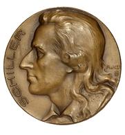 Medaillen Deutschland - Personen: Schiller, Friedrich Von 1759-1805: 3 Verschiedene Medaillen Mit Ko - Deutschland
