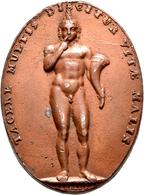 Medaillen - Religion: Schweiz, Zürich, Ovales Medaillon O.J. (um 1819) Von Aberli: Nackter Knabe Mit - Entriegelungschips Und Medaillen