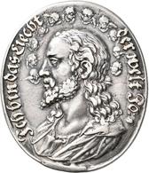 Medaillen - Religion: Ovale Silbermedaille O. J., (um 1630), Stempel Von Sebastian Dadler. Av: Brust - Entriegelungschips Und Medaillen