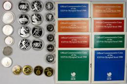 Alle Welt: Umfangreiche Sammlung An Münzen Mit Motiven Olympische Spiele. Angefangen Mit 500 Markkaa - Ohne Zuordnung