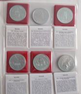 Alle Welt: 5 Alben Voll Mit Silbermünzen überwiegend Aus Kanada Und Österreich. Bei Kanada Handelt E - Ohne Zuordnung