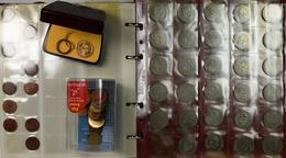 Alle Welt: Ein Album Mit DM Und Weltmünzen, Dabei Auch Eine Medaille Auf Ludwig Erhard 4. II. 1957 D - Ohne Zuordnung