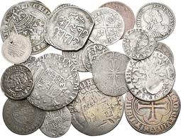 Alle Welt: Kleines Konvolut Von 20 Silbermünzen Ab Dem 17. Jhd.; Dabei Brabant, Frankreich, Spanien - Ohne Zuordnung