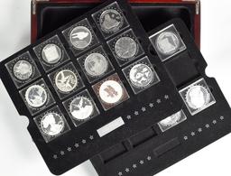 Alle Welt: Silberanleger Aufgepasst: 14 Diverse Silbermünzen Und Eine Medaille, überwiegend In Der G - Ohne Zuordnung