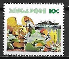 SINGAPOUR     -   Travaux Maritimes Sur Le Quai.  Neuf **.  Bateau - Singapour (1959-...)