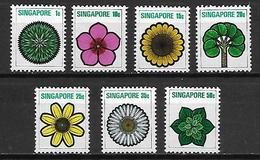 SINGAPOUR     -   Série Des Fleurs Stylisées.   Neufs **. - Singapour (1959-...)