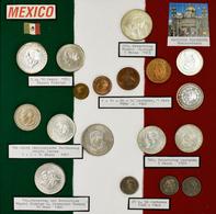 Mexiko: Eine Umfangreiche Typensammlung Mexikanischer Münzen Ab Ca. 1823. 12 BEBA Schuber Mit Münzen - Mexiko