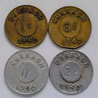 Irland: Set 4 Token: Penny, Sixpence, Ein Schilling Und Zwei Schilling. Die Vorderseite Trägt Die La - Irland