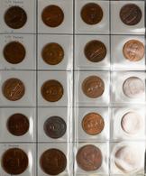Irland: Ein Album Voll Mit Münzen Aus Irland Nach Nominalen Und Jahrgängen Gesammelt. Von Farthing U - Irland