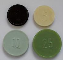 "Niederlande: Plastic Money ""Ministerie Van Oorlog"" 1951. 4 X 1 Cents, 4 X 5 Cents, 4 X 10 Cents, 5 X - [ 2] 1795-1814: Franz. Herrschaft"