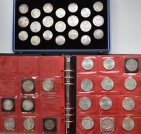 Österreich: Ein Album Und Eine Kassette Voll Mit Münzen Aus Österreich. Überwiegend Gedenkmünzen Von - Oesterreich
