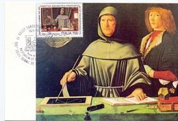 RITRATTO FRA LUCA PACIOLI  1994 MAXIMUM POST CARD (GENN200007) - Cristianesimo