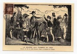 Carte Postale 1941 Exposition Philatélique De L'art Dans Le Timbre Musée Galliera La Bourse Aux Timbres En 1860 - Ausstellungen