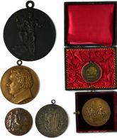 Medaillen: Kleines Lot 6 Medaillen, Dabei: 2 X Frankreich, Kriegsministerium; Dresden, 1. Sächsische - Entriegelungschips Und Medaillen