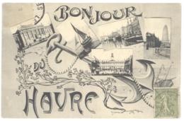 CPA 76 - 25. LE HAVRE - Bonjour Du Havre - Multivues, Ancre De Marine - Peu Courante - Autres