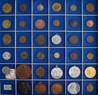 Medaillen Alle Welt: Eine Interessante Mischung Von 35 Medaillen, Jetons Und Marken In Silber, Bronz - Entriegelungschips Und Medaillen