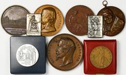Medaillen Alle Welt: Frankreich: Lot 7 Medaillen + 2 Plaketten; Bronzemedaille 1862 (v. Depaulis) De - Entriegelungschips Und Medaillen