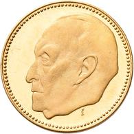 Medaillen Deutschland: BRD: Lot 6 Goldmedaillen; 2 X Konrad Adenauer 1957, Gold 900/1000, 22,5 Mm, J - Deutschland
