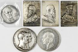 Medaillen Deutschland: Lot Von 45 Medaillen Und Plaketten Des 18./19./20. Jahrhundert; Meist Silber. - Deutschland