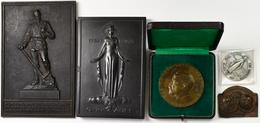 Medaillen Deutschland: Bergbau: Lot 5 Stück; Buderus, Einseitige Eisengußplakette 1933, Neujahrsplak - Deutschland