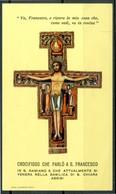 SANTINO - Crocifisso Che Parlo' A San Francesco - Santino Con Preghiera. - Images Religieuses