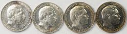 Medaillen Deutschland: Lot 4 Stück; Silbermedaille 1927, Von Karl Goetz; Auf Den 80. Geburtstag Von - Deutschland