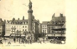 CPA - Belgique - Cachet à Pont - Liège Départ 23-09-1908 - Lille - La Colonne - Marcophilie