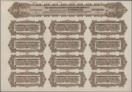 Alte Aktien / Wertpapiere: 1919/23, 6 Shanghai Electric Construction Company Ltd. Share Warrant Spec - Shareholdings