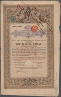 Alte Aktien / Wertpapiere: 1868-1920 Kleine Kollektion Von Ca. 20 Staatsschuldverschreibungen (1868) - Shareholdings