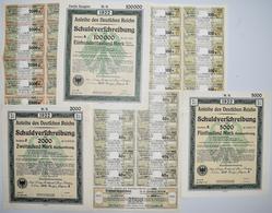 Alte Aktien / Wertpapiere: Deutschland, Berlin 1922. Lot 5 Anleihen Des Deutschen Reichs / Schuldver - Shareholdings