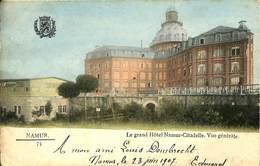 CPA - Belgique - Cachet à Pont - Namur Départ 26-06-1907 - Namur - Le Grand Hôtel - Poststempels/ Marcofilie