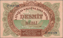 Latvia / Lettland: Highly Rare Set With 16 Banknotes Latvia And Lithuania Comprising 50 Centu 1922, - Lettland