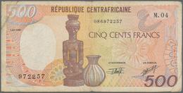 Africa / Afrika: Set Of 12 Banknotes Containing Gabon 500 Francs 1985 P. 8, Equatorial Guinea 500 & - Banknoten