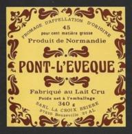 Etiquettes De Fromage.  PONT-L'EVEQUE   La Croix Brière à Beuzeville  27AL - Quesos