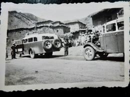 PHOTO ORIGINALE _ VINTAGE SNAPSHOT : EXCURSION AUTOCAR _ MARRAKECH _ MAROC _ AUTOMOBILE _ SCENE De VIE - Automobiles