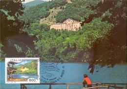 POTENZA  LAGO BADIA  E ABAZZIA MONTICCHIO    1994 MAXIMUM POST CARD (GENN200015) - Geografia