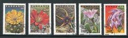 TANZANIE- Y&T N°1838 à 1842- Oblitérés (fleurs) - Tansania (1964-...)