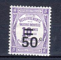 TAXES Neuf Numéro 51    Charnière - France