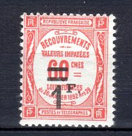 TAXES Neuf Numéro 53   Charnière - France