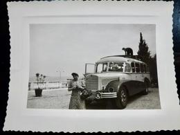 PHOTO ORIGINALE _ VINTAGE SNAPSHOT : BUS _ AUTOCAR _ LAC De GARDE _ ITALIE _ AUTOMOBILE _ SCENE De VIE - Automobile