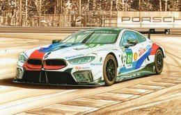 24 Heures Du Mans 2018  -  BMW M8 GTE - Pilotes: Tomczyk/Eng   - Tableau De Francois Bruère - Art Card  -  CPM - Le Mans