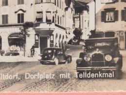OLD PHOTO POSTCARD SWITZERLAND -    AUTO - ALTDORF - UR Uri