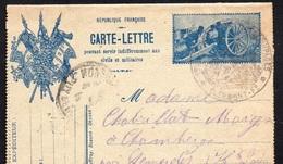"""CL- 3 Drapeaux- """"Simili Timbre- Le  75 """" - Marcophilie (Lettres)"""
