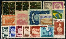 Brasil (Aéreos) Nº 41/5, 48/9, 61/2, 64/5, 69/73, 96, 100. Año 1944/66. - Luchtpost