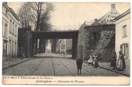 AUDERGHEM 1906 Bas De La Chaussée De Wavre 1610 Pont Chemin De Fer Spoorweg Brug Anime Enfants Kinderen - Oudergem - Auderghem - Oudergem