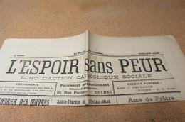 Journal Juill  26 L'Espoir Sans Peur Journal Paroissial St Michel De Bolbec 76 Normandie Chrétienne Sanvic - Journaux - Quotidiens