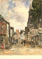 Art - Peinture - Eugène Boudin - Vue De Fervaques - Flamme Postale De Le Bugue - Voir Scans Recto-Verso - Malerei & Gemälde