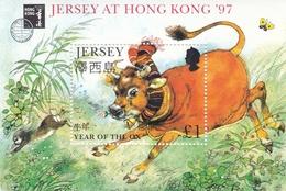 Jersey, 1997, 764 Block 14 I , Jahr Des Ochsen, Year Of The Ox, MNH ** - Jersey