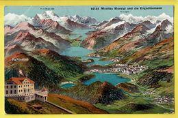 * St Moritz - Grisons (Switserland - Suisse - Schweiz) * (Wehrli A.G. Kilchberg 14144) Muottas Muraigl Und Engadinerseen - GR Grisons